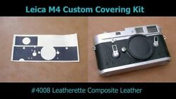 Camera Skin Cover Leather -leica M4/m4-2/m4-p/mda -no Parts Removal Japan 854