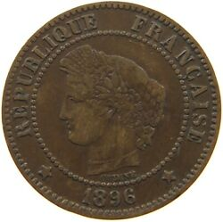 France 2 Centimes 1896 A32 437