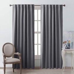 Nicetown Bedroom Curtains Blackout Curtain Panels - Gray Color 52x95 Inch 2 P