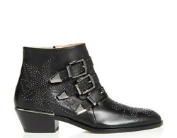 Brand New Susanna Ankle Boots Black/silver Studded Leather Size 40 1380