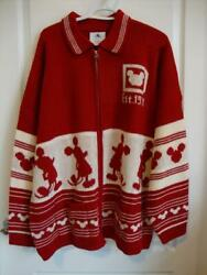 Disney Christmas Holiday 2020 Red And White Cardigan Sweater Spirit Jersey Xxl 2xl