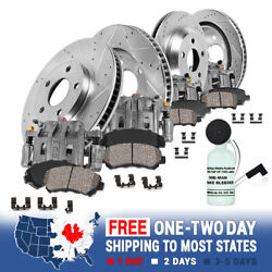 For 2000 - 2004 Excursion F250 F350 Front+rear Brake Calipers And Rotors And Pads