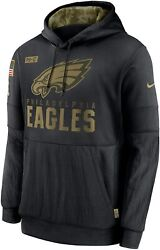 Authentic 2020 Philadelphia Eagles Salute To Service Sideline Hoodie Nwt Mens M