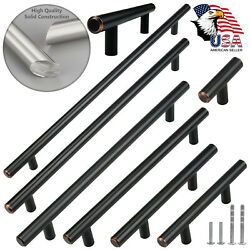 Solid Oil Rubbed Bronze Cabinet Handles Pull Kitchen Hardware Stainless Steel