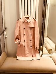 New Leather Trench Coat - Colour Pink Size Uk12