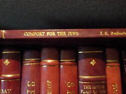 Very Rare Comfort For The Jews 1925 Judge Rutherford Watchtower Leather