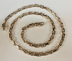 10kt Solid Rose Gold Handmade Link Menand039s Chain/necklace 18 30 Grams 4.5mm