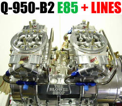 Quick Fuel Q-950-b2 E85 950 Cfm Blower Supercharger Carbs Clear Color And Line Kit