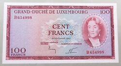 Luxembourg 100 Francs 1963 Top Alb51 1547