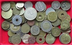 Collection Lot Europe Medals Jetons Tokens 62pc 319g Xx7 029