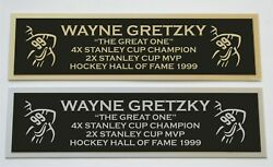 Wayne Gretzky Nameplate For Signed Autographed Hockey Jersey Photo Puck Or Item