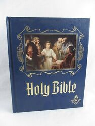 Book Holy Bible Masonic Heirloom Master Reference Edition Red Letter No Writing