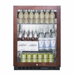 Summit Scr610blpnr 24 One Section Beverage Center With Glass Door, 5 Cu.ft