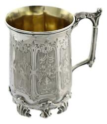 Antique - Victorian Sterling Silver - H J Lias And Son Cup Mug / Tankard - 1857