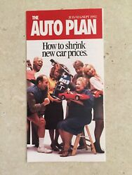 1992 The Auto Plan New Car Discount Brochure How To Shrink New Car Prices