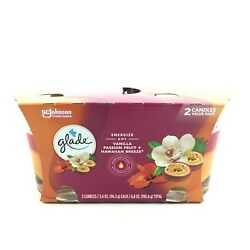 Glade 2in1 Candles Vanilla Passion Fruit Hawaiian Breeze 2 Pack