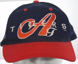 Vintage 1980s Auburn Tigers Hat - Top Of The World Tow Baseball Cap Large Script