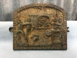 Early Antique Herring's Fire Proof Safe Brass Plaque F7 Safe