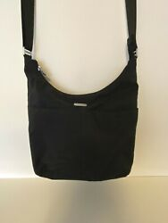 ***BAGGALLINI***TRAVEL CROSSBODY BLACK BAG MULTIPLE POCKETS $14.99