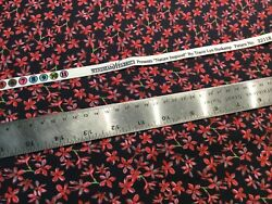 Quilting Material Fabric 2.75 Black Red Floral Sewing Face Mask Windham T2