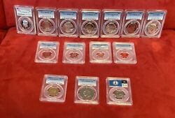 7 Jfk And Various Us Mint Pcgs -14 Coins Cameo, Proof Collectibles