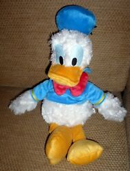 Disney Parks Plush Donald Duck 14 Tall Blue Sailor Shirt And Hat Red Bow