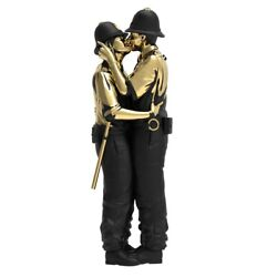 Banksy X Brandalised And Mighty Jaxx Kissing Coppers Gold-sculpt-andeacuted-lim-254cm