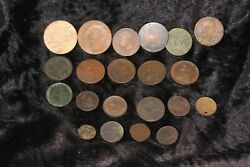 19th Century Andandnbsplater World Coinage And Tokens To Include Aandnbsp1841 Penny Etc