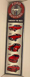"""Ford Mustang Through The Ages Metal Sign 30x7 5/8"""" New Offical License"""