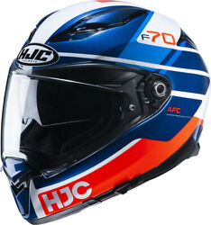 Motorcycle Helmet Integral Hjc F70 Tino Mc21 Red White Blue Size S