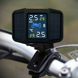 20xmotorcycle Tire Pressure Monito System Solar Power Tpms Real-time Display