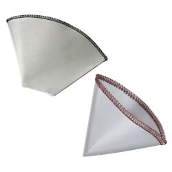 5xreusable Coffee Filter Stainless Steel Fine Mesh Coffee Filter Drip Trapezoid