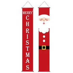 20xmerry Christmas Hanging Door Banner Ornaments Christmas Decorations For Home
