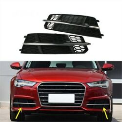20xcar Pair Front Lower Honeycomb Fog Light Grille Cover For Audi A6 C7.5