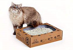 Cat Box Eco Cat Toilet for Four Weeks. Ready to use Shatter Resistant Kitty Box