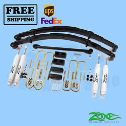 Suspension Lift Kit Zone 4 Front And Rear For Ford F350 4wd Gas/diesel 2000-2004