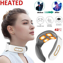 Electric Cervical Neck Massager Heated Relax Body Shoulder Musle Relief Pain
