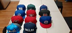 Mens 59fifty Fitted New Era Hat Lot Size 7 1/2 Mlb Nba Nfl
