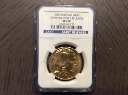 2009 Gold Buffalo - 50 - Early Releases Ms 70 - Ngc