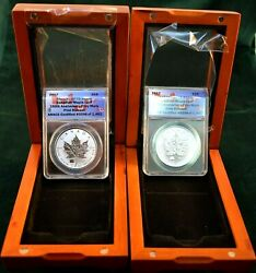 2017 Silver Maple Leaf 150th Anniv. Rp70 Dcam First Release 298 And 299 Sequence