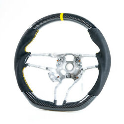 Carbon Suede Yellow Steering Wheel For Porsche 911 718 Boxster Cayman Macan S