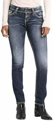 Silver Jeans Co. Womenand039s Suki Curvy Fit Mid Rise Straight Leg Jeans
