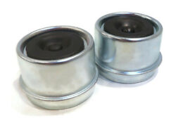 Pack Of 2 Metal Grease Caps 1.98 With Rubber Plugs For Ez Lube Spindle Axles