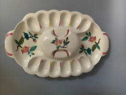 Redwing Red Wing Blossom Time Ceramic Egg Tray With Lid Deviled Egg Plate