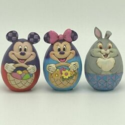 Jim Shore Disney Traditions Mickey Minnie Thumper Easter Egg 4057679 Retired