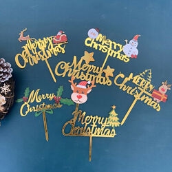 Acrylic DIY Decorations Party Supplies Cupcake Merry Christmas Xmas Cake.Toppers