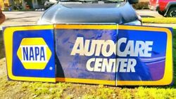 Vintage Napa Auto Care Center Sign Nos New Old Stock Never Used Rare Metal Tin