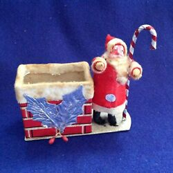 Rare Antique Christmas Belsnickle Santa Claus Chimney Candy Container Japan Made