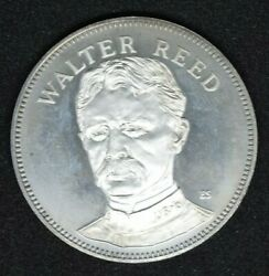 1971 Walter Reed Gallery Of Great Americans Sterling Silver Proof Coin