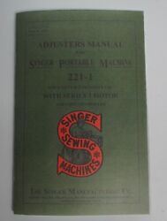 Adjusters Service Manual Singer Featherweight 221 Sewing Machine Dealer Booklet